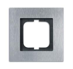Рамка 1-пост, ABB carat® цвет сталь - фото 4588
