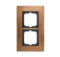 Рамка 2-поста, ABB carat® цвет бронза - фото 4590