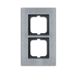 Рамка 2-поста, ABB carat® цвет сталь - фото 4594
