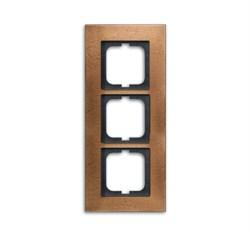 Рамка 3-поста, ABB carat® цвет бронза - фото 4596