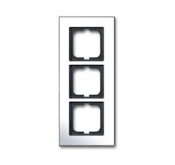 Рамка 3-поста, ABB carat® цвет хром - фото 4599