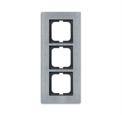 Рамка 3-поста, ABB carat® цвет сталь - фото 4600