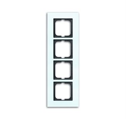 Рамка 4-поста, ABB carat® цвет Белый - фото 4601