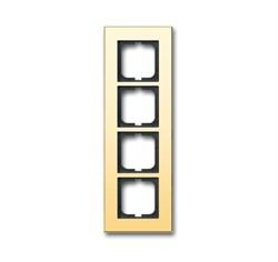 Рамка 4-поста, ABB carat® цвет бронза - фото 4603