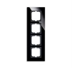 Рамка 4-поста, ABB carat® цвет чёрный - фото 4604