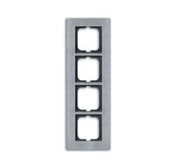 Рамка 4-поста, ABB carat® цвет сталь - фото 4606