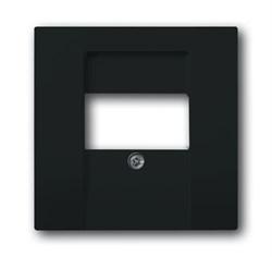 Накладка (центральная плата) для интернет интернет RJ45 розетки, серия solo/future, цвет антрацит - фото 4612