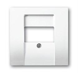 Накладка (центральная плата) для интернет интернет RJ45 розетки, серия solo/future, цвет Белый - фото 4613