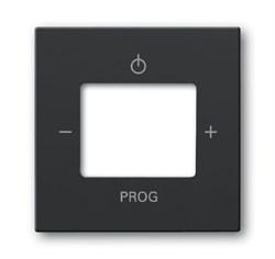 Плата центральная (накладка) для механизма цифрого FM-радио 8215 U,ABB carat® серия future/solo, цвет антрацит - фото 4635
