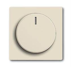 Плата центральная (накладка) с ручкой и лампой для поворотного светорегулятора, ABB carat® серия solo/future, цвет слоновая кость - фото 4640