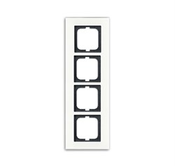 Рамка 4-поста, ABB carat® цвет Белый - фото 4644