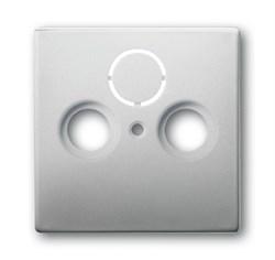 Накладка (центральная плата) для TV-R-SAT розетки, ABB pur edelstahl серия pur/сталь - фото 4655