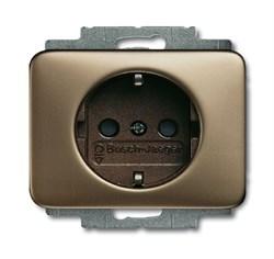 Розетка SCHUKO 16А 250В с защитными шторками, ABB alpha цвет бронза - фото 4828