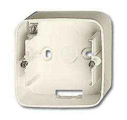 Коробка для открытого монтажа, 1 пост, ABB alpha цвет слоновая кость - фото 4841