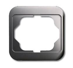 Рамка 1-пост, ABB alpha цвет Белый платина - фото 4850