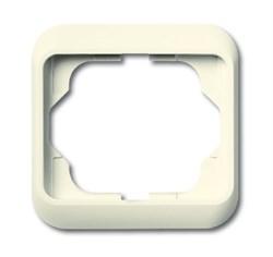 Рамка 1-пост, ABB alpha цвет Белый бархат - фото 4851