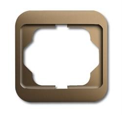 Рамка 1-пост, ABB alpha цвет коричневый - фото 4852