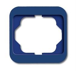 Рамка 1-пост, ABB alpha цвет синий - фото 4855