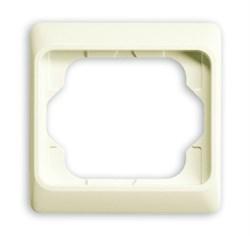 Рамка 1-пост, ABB alpha цвет слоновая кость - фото 4856