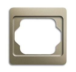 Рамка 1-пост, ABB alpha цвет коричневый - фото 4858