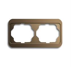 Рамка 2-поста горизонтальная, ABB alpha цвет коричневый - фото 4861