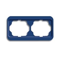 Рамка 2-поста горизонтальная, ABB alpha цвет синий - фото 4866