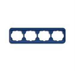 Рамка 4-поста горизонтальная, ABB alpha цвет синий - фото 4890