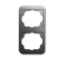 Рамка 2-поста вертикальная, ABB alpha цвет платина - фото 4907