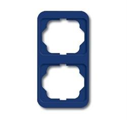 Рамка 2-поста вертикальная, ABB alpha цвет синий - фото 4910