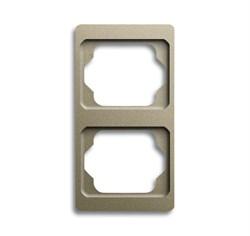 Рамка 2-поста вертикальная, ABB alpha цвет коричневый - фото 4915