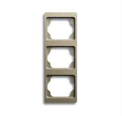 Рамка 3-поста вертикальная, ABB alpha цвет коричневый - фото 4927
