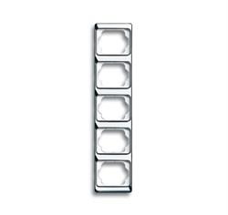 Рамка 5-постов вертикальная, ABB alpha цвет хром - фото 4949
