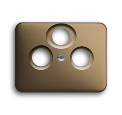 Накладка (центральная плата) для TV-R-SAT розетки, ABB alpha цвет бронза - фото 4951