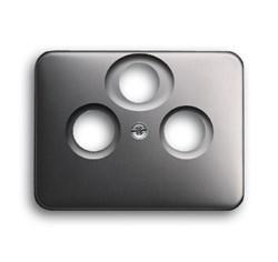 Накладка (центральная плата) для TV-R-SAT розетки, ABB alpha цвет платина - фото 4952
