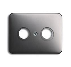 Накладка (центральная плата) для TV-R розетки, ABB alpha цвет платина - фото 4958