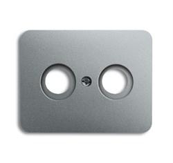 Накладка (центральная плата) для TV-R розетки, ABB alpha цвет титан - фото 4963
