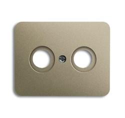 Накладка (центральная плата) для TV-R розетки, ABB alpha цвет коричневый - фото 4964
