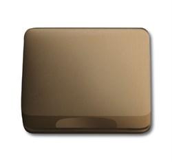 Крышка для розетки, ABB alpha цвет бронза - фото 4969
