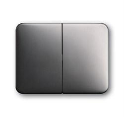 Клавиша для механизма 2-клавишных выключателей/переключателей/кнопок, ABB alpha цвет платина - фото 4982