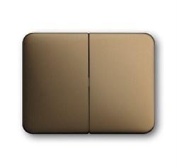 Клавиша для механизма 2-клавишных выключателей/переключателей/кнопок, ABB alpha цвет бронза - фото 4984