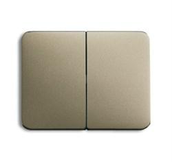 Клавиша для механизма 2-клавишных выключателей/переключателей/кнопок, ABB alpha цвет коричневый - фото 4987