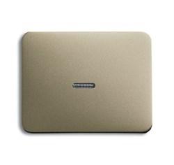 Клавиша для механизма 1-клавишных выключателей/переключателей/кнопок с прозрачной линзой, ABB alpha цвет коричневый - фото 5001