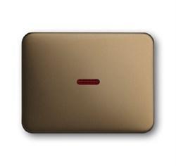 Клавиша для механизма 1-клавишных выключателей/переключателей/кнопок с красной линзой, ABB alpha цвет бронза - фото 5005