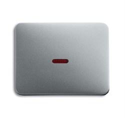 Клавиша для механизма 1-клавишных выключателей/переключателей/кнопок с красной линзой, ABB alpha цвет титан - фото 5008