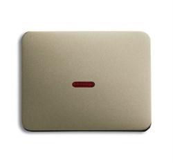 Клавиша для механизма 1-клавишных выключателей/переключателей/кнопок с красной линзой, ABB alpha цвет коричневый - фото 5009