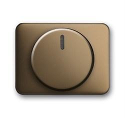 Плата центральная (накладка) с ручкой и лампой для поворотного светорегулятора, ABB alpha цвет бронза - фото 5011