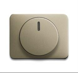 Плата центральная (накладка) с ручкой и лампой для поворотного светорегулятора, ABB alpha цвет коричневый - фото 5016