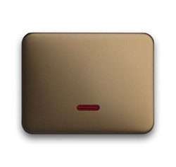 Клавиша для светорегулятора 6550 U-10x, 6560 U-101, 6593 U, реле 6401 U-10x, 6402 U, ABB alpha цвет бронза - фото 5017
