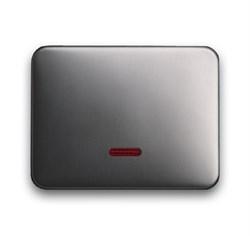 Клавиша для светорегулятора 6550 U-10x, 6560 U-101, 6593 U, реле 6401 U-10x, 6402 U, ABB alpha цвет платина - фото 5018