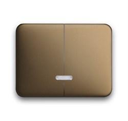 Клавиша для 2-канального светорегулятора 6550 U-10x, 6560 U-101, 6593 U, реле 6401 U-10x, 6402 U, ABB alpha цвет бронза - фото 5023